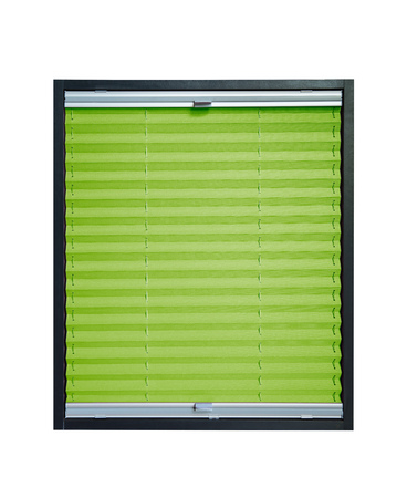 pleat: Pleated blind isolated on white background