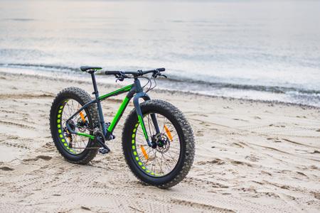 winter tires: Fat bike on beach near Kolobrzeg - Poland