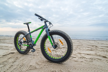 Fat bike on beach near Kolobrzeg - Poland