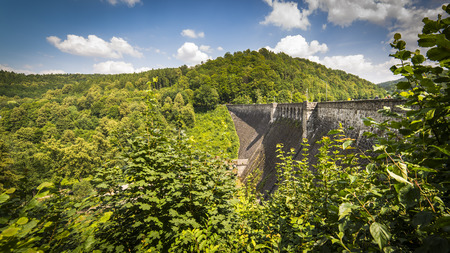 Water dam in Zagorze Slaskie, Owl mountains, Silesia, Poland