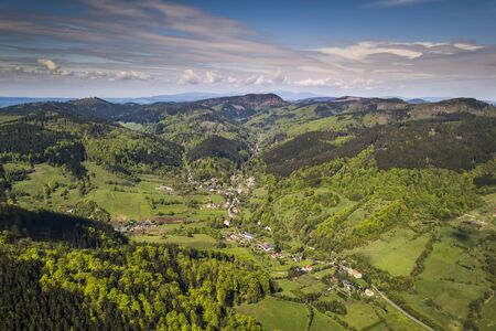 Valley of Lomnica - Suche Mountains in Sudetes Poland