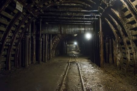 Interior of old coal mine