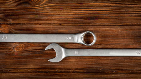 Old mechanic keys 20-19. The concept of a new year 2019.