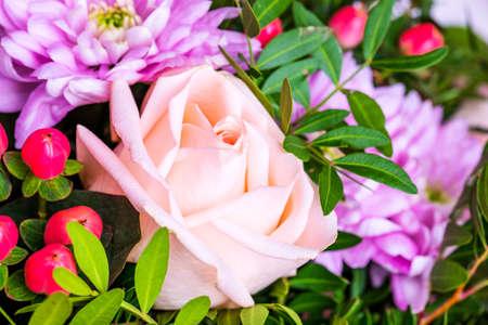 Bouquet of flowers. Festive flowers composition Stockfoto