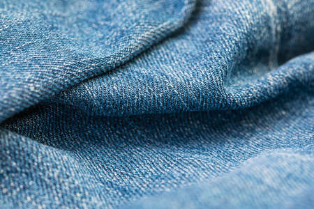 blue jeans high quality texture, moving waves. fabric texture. Standard-Bild