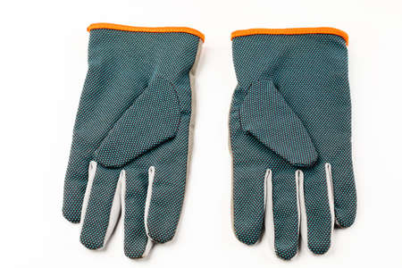 garden gloves on white background.