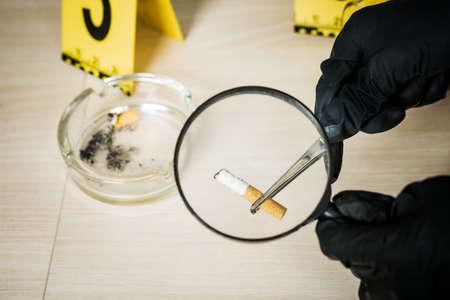 Investigation at the scene found a cigarette butt