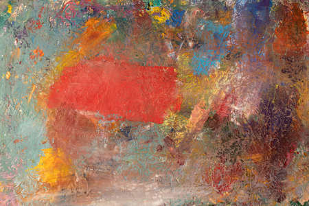 Background image of bright oil-paint palette closeup Stock Photo