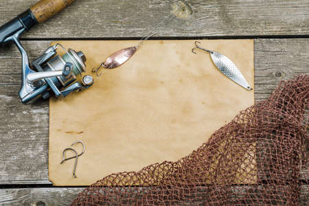 fishing gear. background image.
