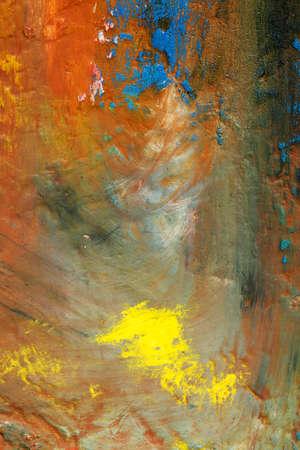 Background image of bright oil-paint palette closeup Foto de archivo