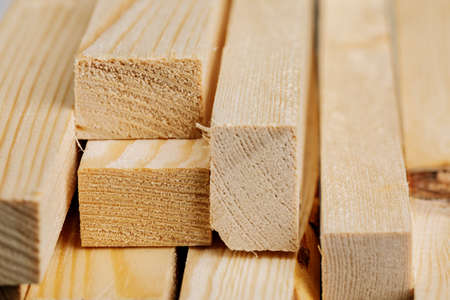 Wooden slats. Natural wood background texture of boards.