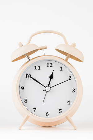 classic table clock on a white background.