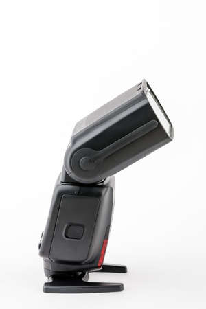 flash or portable flash on a white isolated background.