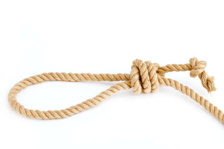Hanging loop isolated on white background