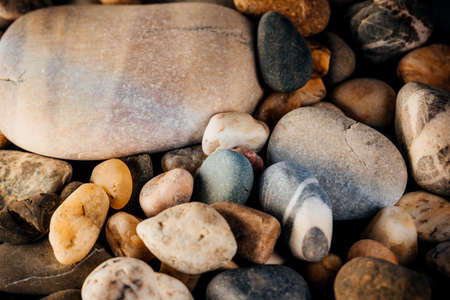Sea rocks, top view. Sea background.