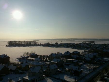 volga: Volga river in winter