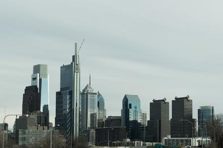Philadelphia Cityscape Philly Skyline Skyscrapers Buildings Stock Photo