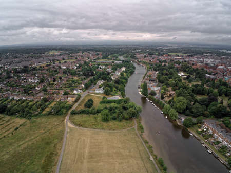 Aerial view, river Dee besides Chester and Handbridge