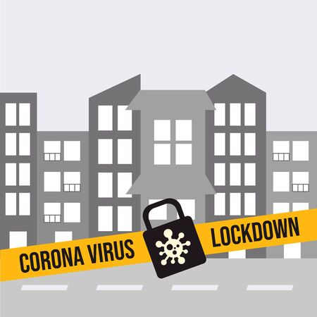 a city locked down because of the Corona virus Çizim