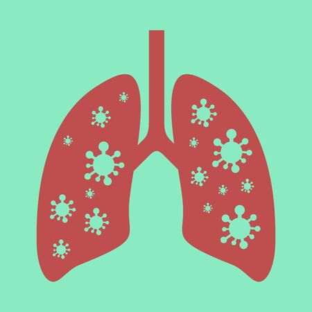 lungs that have viruses in them