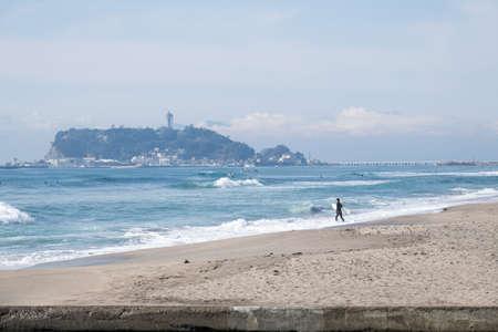 kanagawa: surfer Stock Photo
