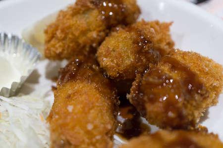 grasas saturadas: Oyster frito