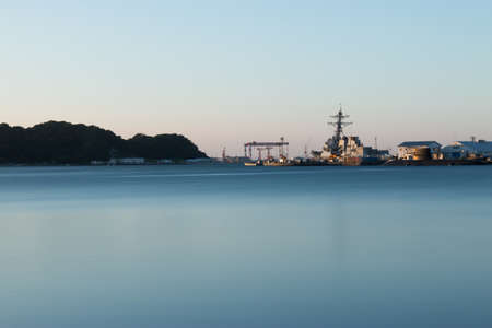 Naval port at Yokosuka 版權商用圖片 - 45524390