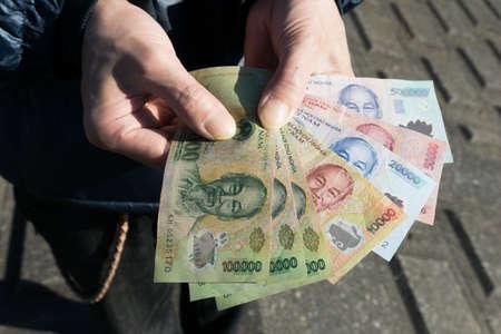 cash flows: Vietnam banknote