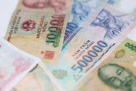 ベトナムのお金 写真素材