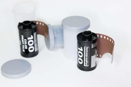 rollo pelicula: 35 mm rollo de película Foto de archivo