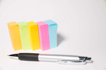 notepaper: notepaper sticker with a pen