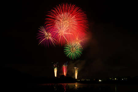 fireworks display: Fireworks display Stock Photo