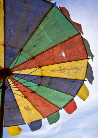 Colorful Umbrella on the beach Stock Photo - 17274147