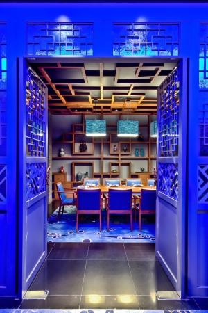 Modern Chinese Restaurant Interior Design Stock Photo - 17269410