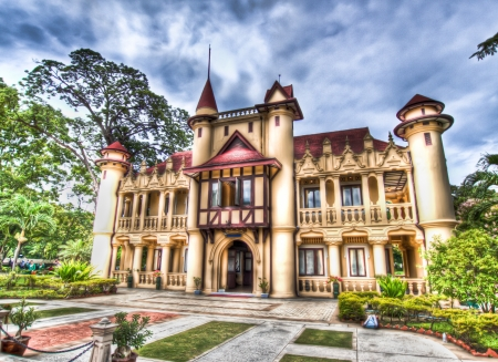 Castle Sanamjan palace in Thailand Editorial