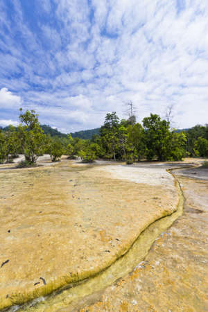 Bodies Of Water at The Emerald Pool in Krabi Thailand Stock Photo