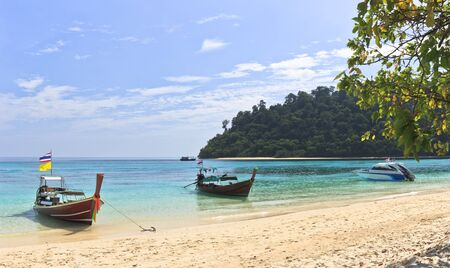 Andaman sea View in The Sea Trang Stock Photo