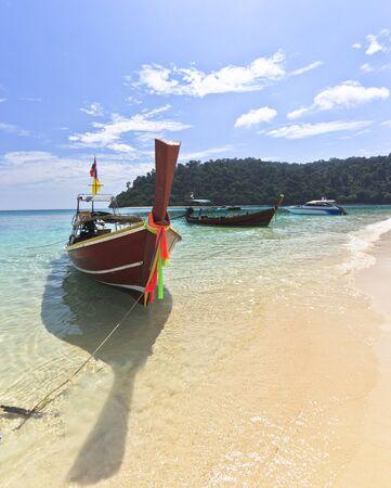 Andaman sea View in The Sea Trang Stock Photo