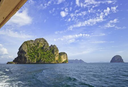 Sea View in The Sea Trang in Thailand