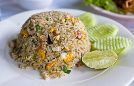 Crab fried rice Asia food in thailand Stock Photo