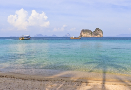Andaman sea View  in Koh Ngai Fantasy in Thailand Stock Photo