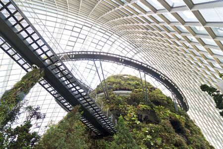 SINGAPORE-MARCH 1: Cloud Forest Dome at Gardens by the Bay on MARCH 1, 2013 in Singapore. Spanning 101 hectares of reclaimed land in central Singapore, adjacent to Marina Reservoir. Stock Photo - 18584829