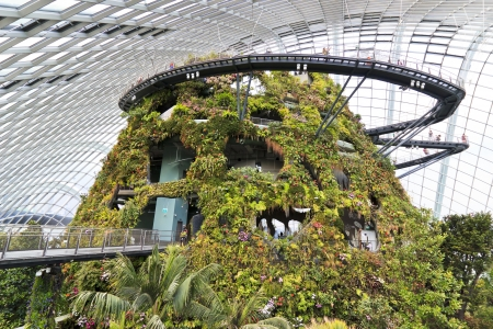 SINGAPORE-MARCH 1: Cloud Forest Dome at Gardens by the Bay on MARCH 1, 2013 in Singapore. Spanning 101 hectares of reclaimed land in central Singapore, adjacent to Marina Reservoir. Stock Photo - 18584830