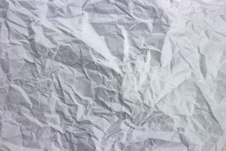 Close-up of crushed white paper texture