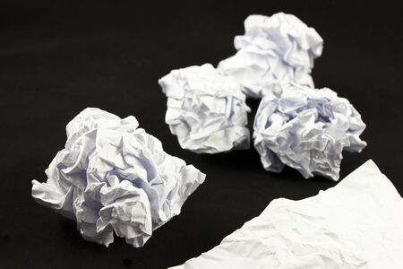 Close-up of a crumbled paper Stock Photo