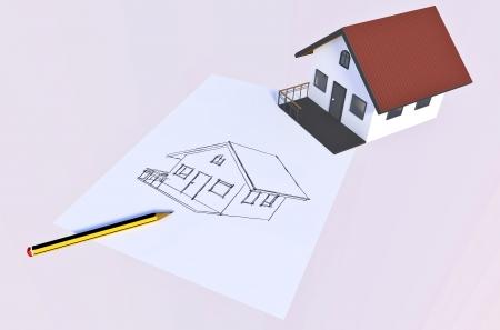 ideas to make your dream home come true Stock Photo