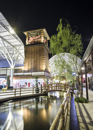 paseo: BANGKOK, THAILAND - MARCH 25, 2015 :Grand opening The Paseo Park  New Japanese village-style community mall  at Kanchanapisek Road on March 25, 2015  in Bangkok , Thailand.