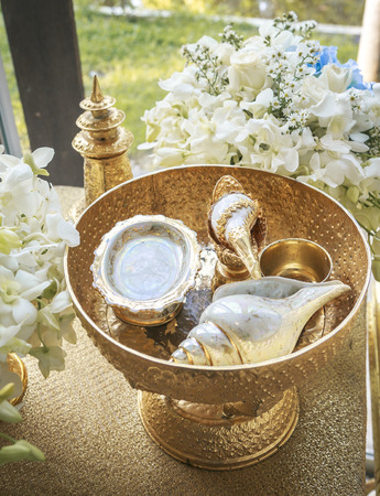 Object for Thai Wedding ceremony Stock Photo