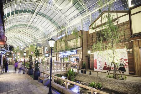 BANGKOK, THAILAND - MARCH 25, 2015 :Grand opening The Paseo Park  New Japanese village-style community mall  at Kanchanapisek Road on March 25, 2015  in Bangkok , Thailand.