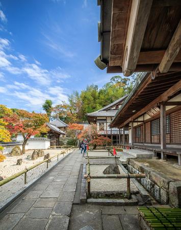FUKUOKA, JAPAN - November 12, 2015: Komyozenji Temple on November 12, 2015 near Dazaifu Tenmangu, Fukuoka, Japan.